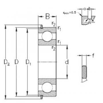 65 mm x 100 mm x 18 mm  NKE 6013-NR deep groove ball bearings