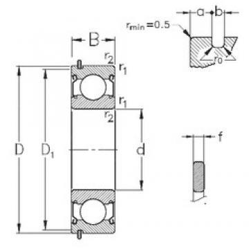 20 mm x 42 mm x 12 mm  NKE 6004-2Z-NR deep groove ball bearings