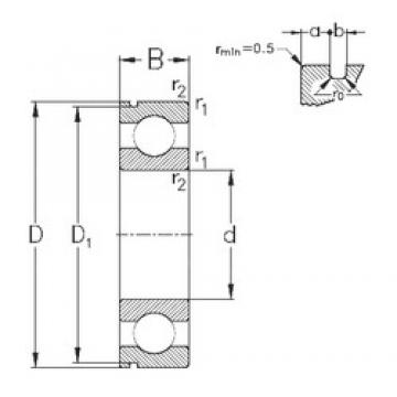 65 mm x 100 mm x 18 mm  NKE 6013-N deep groove ball bearings