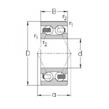 70 mm x 150 mm x 63,5 mm  NKE 3314 angular contact ball bearings