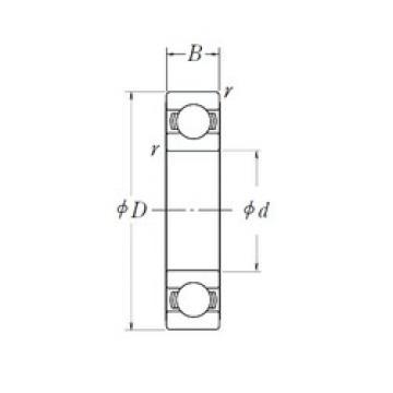 20 mm x 42 mm x 12 mm  NSK 6004L11DDU deep groove ball bearings