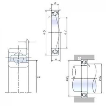 65 mm x 100 mm x 18 mm  NSK 65BER10H angular contact ball bearings