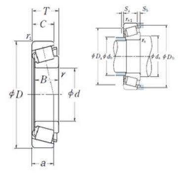 120 mm x 200 mm x 62 mm  NSK HR33124J tapered roller bearings