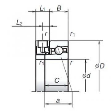 65 mm x 100 mm x 18 mm  NSK 65BNR10XE angular contact ball bearings