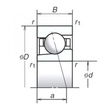 20 mm x 42 mm x 12 mm  NSK 20BGR10H angular contact ball bearings