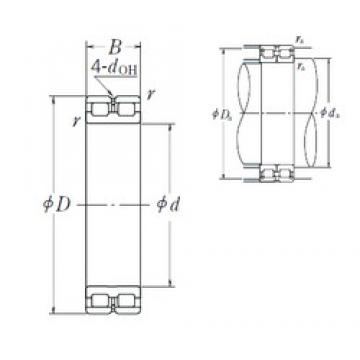 380 mm x 520 mm x 140 mm  NSK RSF-4976E4 cylindrical roller bearings