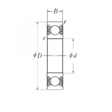 65 mm x 100 mm x 18 mm  NSK 6013DDU deep groove ball bearings