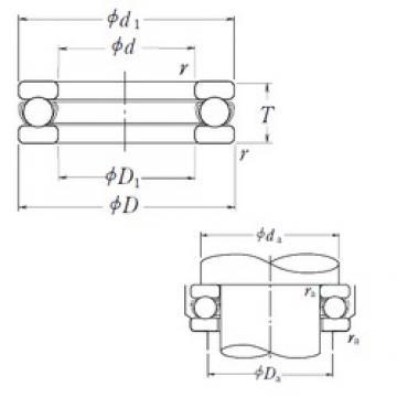NSK 51207 thrust ball bearings