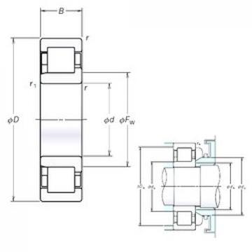 180 mm x 320 mm x 86 mm  NSK NJ2236EM cylindrical roller bearings