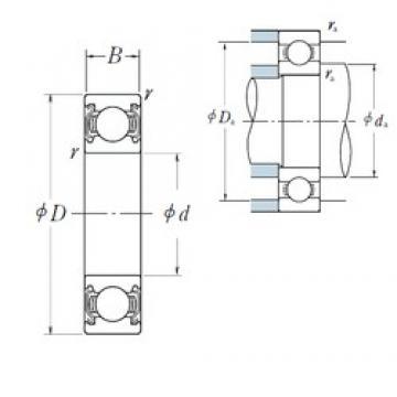 65 mm x 100 mm x 18 mm  NSK 6013ZZ deep groove ball bearings
