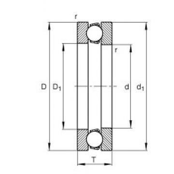 FAG 51207 thrust ball bearings
