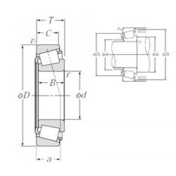 44,45 mm x 95,25 mm x 28,3 mm  NTN 4T-53177/53375 tapered roller bearings
