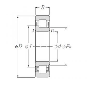 65 mm x 100 mm x 18 mm  NTN NJ1013 cylindrical roller bearings