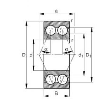 17 mm x 47 mm x 22,2 mm  FAG 3303-BD-TVH angular contact ball bearings