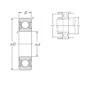 20 mm x 42 mm x 12 mm  NTN 6004LLH deep groove ball bearings