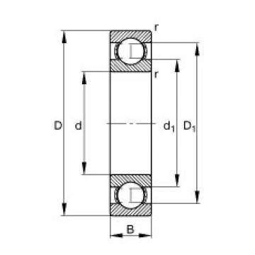 65 mm x 100 mm x 18 mm  FAG 6013 deep groove ball bearings