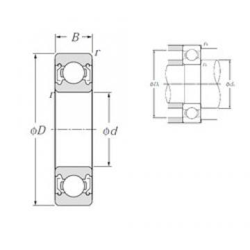 20 mm x 42 mm x 12 mm  NTN 6004ZZ deep groove ball bearings