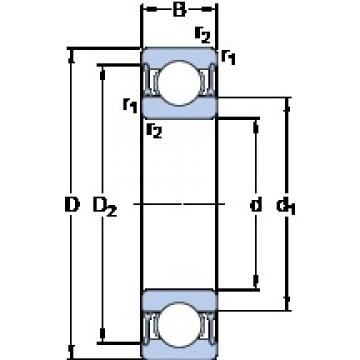 35 mm x 62 mm x 14 mm  SKF 6007-2RZTN9/HC5C3WT deep groove ball bearings