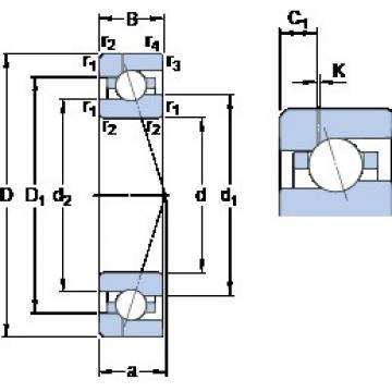 35 mm x 62 mm x 14 mm  SKF 7007 ACE/HCP4AH1 angular contact ball bearings