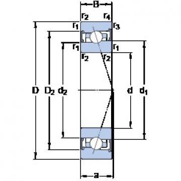 35 mm x 62 mm x 14 mm  SKF S7007 ACB/P4A angular contact ball bearings