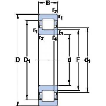 65 mm x 120 mm x 23 mm  SKF NUP 213 ECML thrust ball bearings