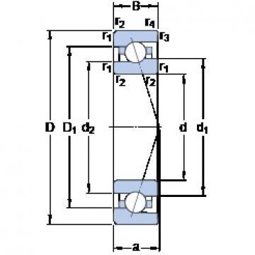 35 mm x 62 mm x 14 mm  SKF 7007 CE/HCP4A angular contact ball bearings