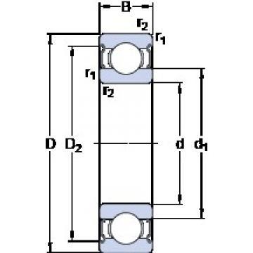 35 mm x 62 mm x 14 mm  SKF W 6007-2Z deep groove ball bearings