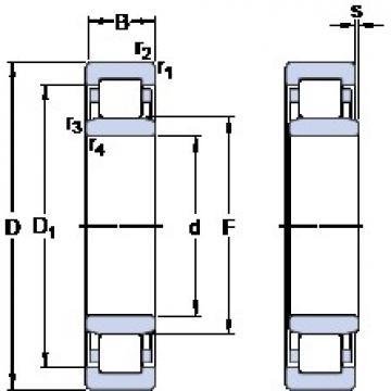 35 mm x 62 mm x 14 mm  SKF NU 1007 ECP thrust ball bearings