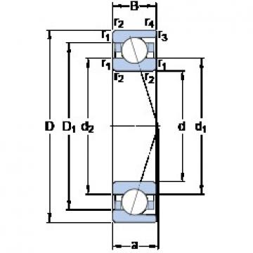 35 mm x 62 mm x 14 mm  SKF 7007 ACD/P4A angular contact ball bearings