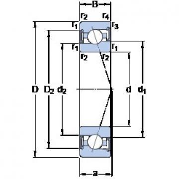 35 mm x 62 mm x 14 mm  SKF S7007 ACE/P4A angular contact ball bearings
