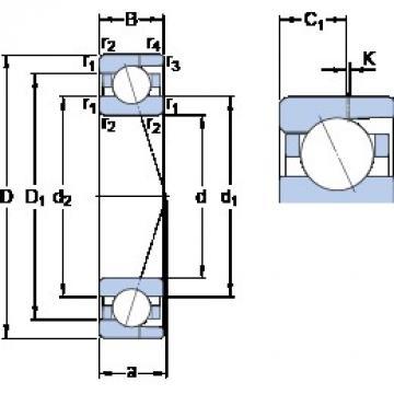 35 mm x 62 mm x 14 mm  SKF 7007 CD/P4AH angular contact ball bearings