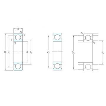 3,175 mm x 9,525 mm x 3,967 mm  SKF D/W R2 deep groove ball bearings