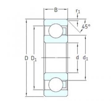 20 mm x 42 mm x 12 mm  SKF 6004/HR11TN deep groove ball bearings