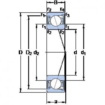 65 mm x 120 mm x 23 mm  SKF S7213 ACD/P4A angular contact ball bearings
