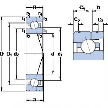 35 mm x 62 mm x 14 mm  SKF 7007 ACE/P4AL angular contact ball bearings