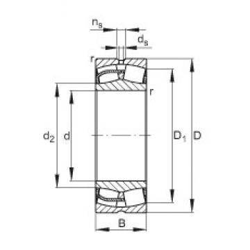 150 mm x 225 mm x 75 mm  FAG 24030-E1 spherical roller bearings