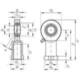 20 mm x 35 mm x 16 mm  INA GIR 20 DO plain bearings
