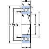 35 mm x 62 mm x 14 mm  SKF 7007 ACB/P4A angular contact ball bearings
