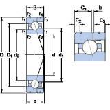 35 mm x 62 mm x 14 mm  SKF 7007 ACE/HCP4AL angular contact ball bearings