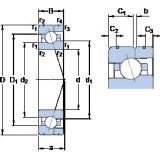 35 mm x 62 mm x 14 mm  SKF 7007 CE/HCP4AL angular contact ball bearings
